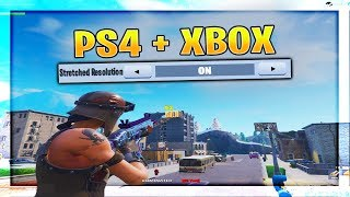 How To Get Stretched Resolution On CONSOLE | PS4 + Xbox Stretched Resolution (Fortnite)