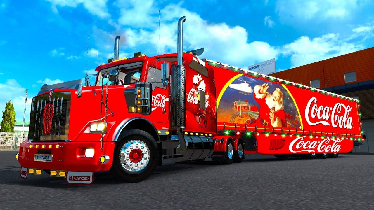 Especial navideño! Kenworth T800 de Coca Cola! Trailer con ...