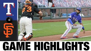 Evan Longoria leads Giants to 7-3 win | Rangers-Giants Game Highlights 8/1/2020