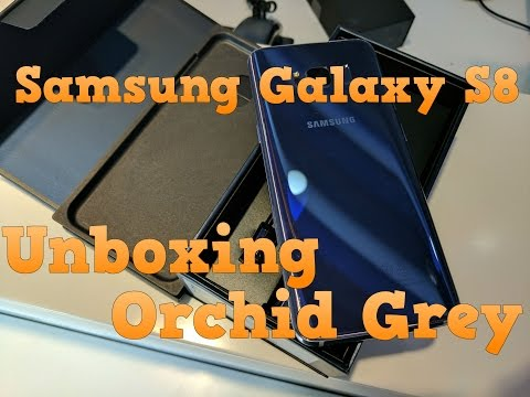 Samsung Galaxy S8 unboxing | Orchid Grey | Retail