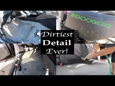 Detailing The Dirtiest Toyota Prius Interior Ever! Interior Car Cleaning Transformation