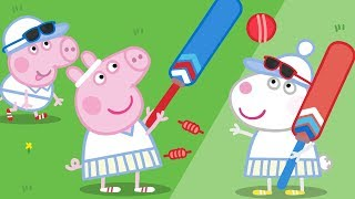 Peppa Pig Official Channel | Peppa Pig Learns How to Play Cricket with Kylie Kangaroo