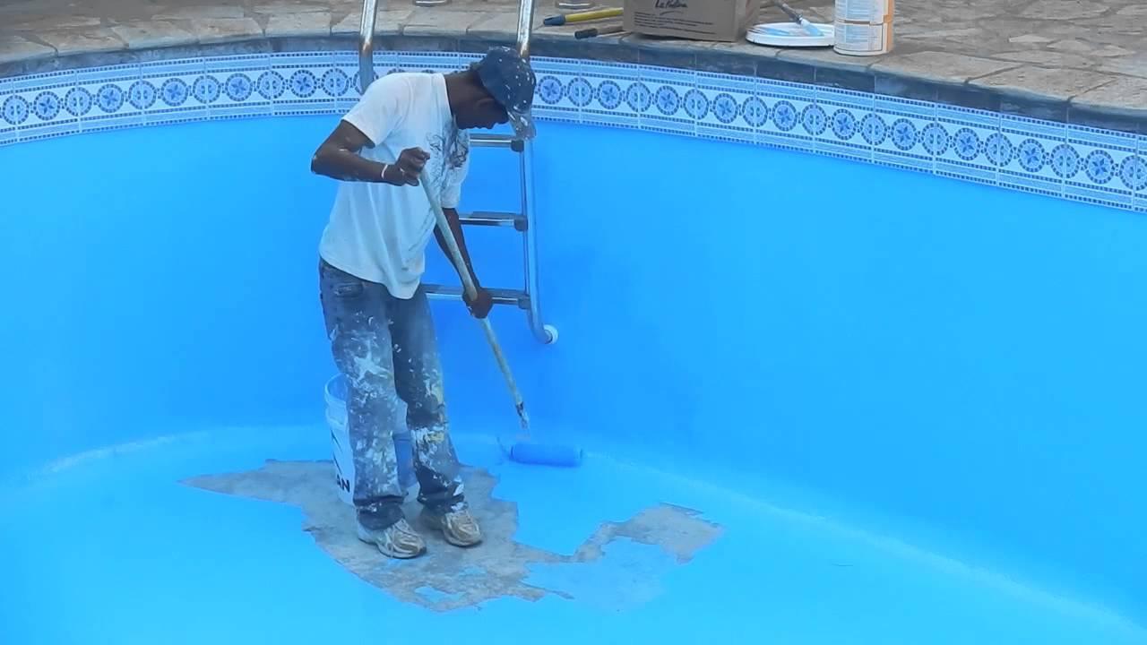 La piscina pitturata youtube for Obi mattonelle