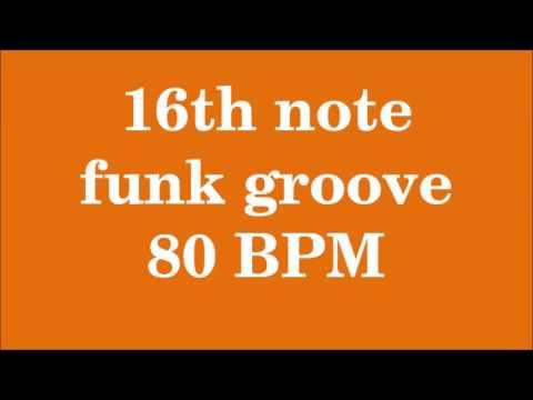Drum Loop for Practice 16th note funk groove 80 bpm
