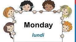 Cours d'anglais 7 - Les jours de la semaine en anglais Monday Tuesday Wednesday Thursday Friday