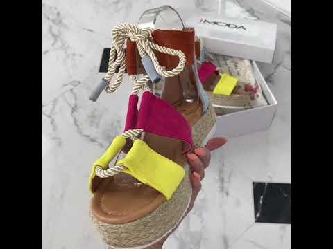 a86c1e8f1527f Farebné šnurovacie sandále - YouTube