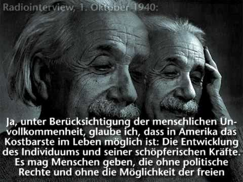 Albert Einstein - Radiointerview 1940