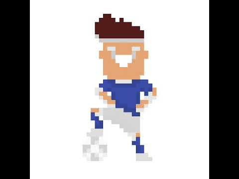 Joueurs De Football 3 Pixels Arts Youtube