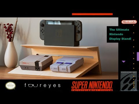 Ultimate Nintendo Set Up Display Stand | Woodworking