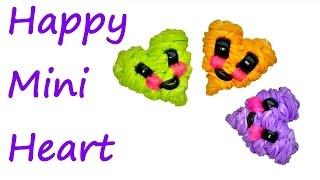 Happy Mini Heart Tutorial by feelinspiffy (Rainbow Loom)