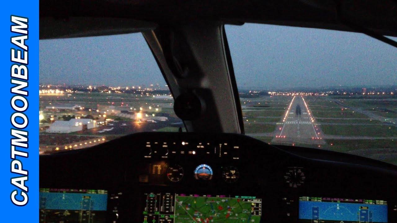 Cessna Citation Mustang Landing Cockpit Nashville At