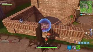 Using the new sticky grenade in fortnite - got a kill