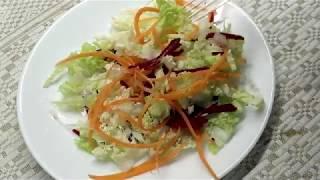 салат ОВОЩНОЙ (из капусты, свёклы и моркови)