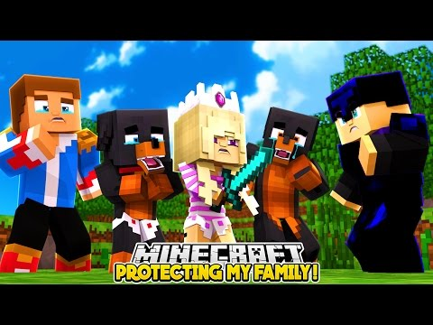 BABY LEAH PROTECTS HER FAMILY | MINECRAFT BED WARS- Baby Leah Minecraft Adventures!