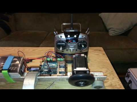 Controlling a stepper motor with an Arduino and a RC transmitter