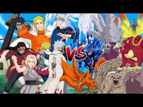 Cuộc Đối Đầu Của 7 Hokage Làng Lá Với Các Vĩ Thú - Naruto Song Đấu