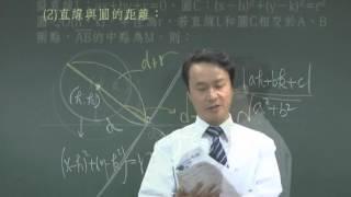 【林晟數學-高職】試看二次曲線第1集-圓與直線的關係