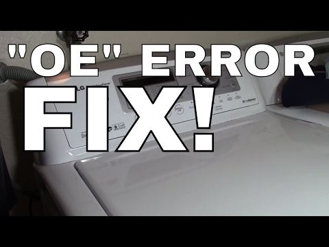 LG Washing Machine Wont Drain or Spin --  (OE ERROR CODE) How to Fix PUMP and LINE