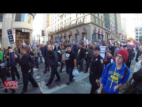 [4K] SF Antifa Communist Revolution March
