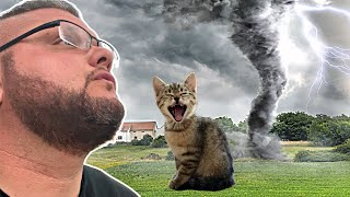 TORNADO WARNING!!! WE LOST OUR CAT!