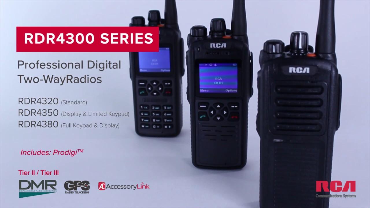 RCA RDR4320 DMR Digital Radio Package