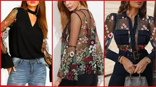 Lace And Lace Decorated Blouse…
