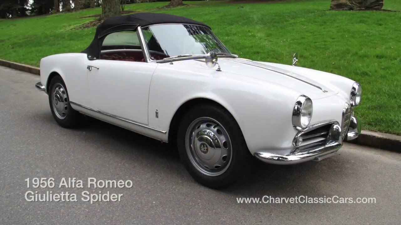 1956 alfa romeo giulietta spider. charvet classic cars - youtube