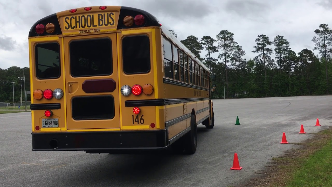 67  Skills  U2013 Parallel Parking    Service Door Side  U2013 Class B Cdl School Bus
