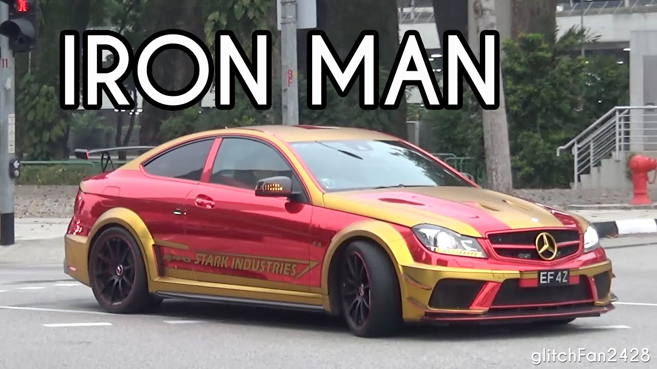 Iron man mercedes benz c63 amg black series acceleration for Mercedes benz iron