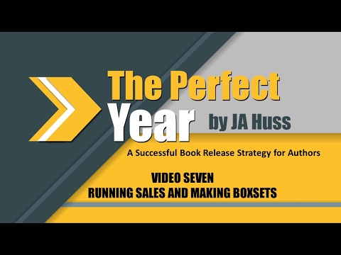 Successful Release Strategy for Authors - Video Seven by JA Huss