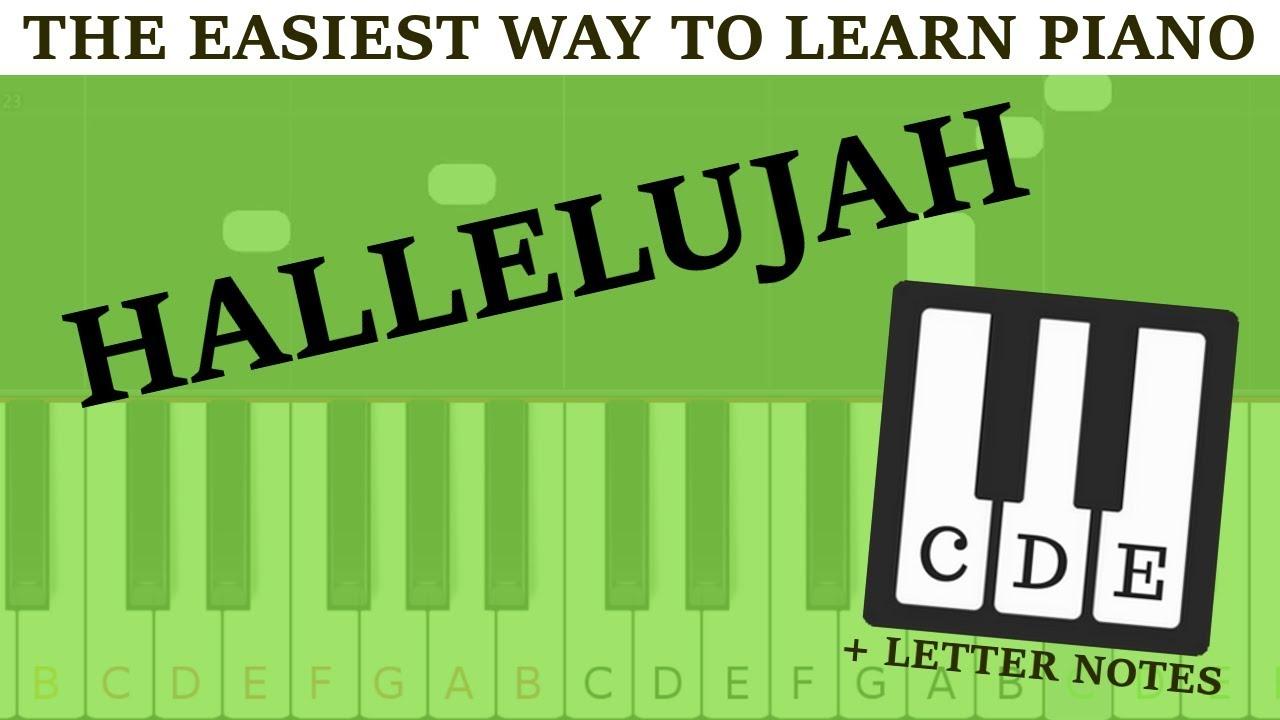 Piano Tutorial Hallelujah Cohen