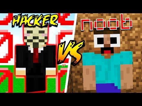 HACKERS vs NOOBS in MINECRAFT!