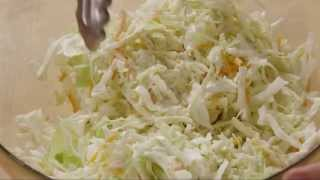 Salad Recipe - How To Make Restaurant Style Coleslaw