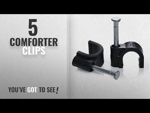 Top 10 Comforter Clips [2018]: 7mm Round Black Cable Clips Pack of 100