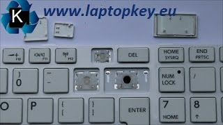 Instalation Guide how to install fix repair key in keyboard Toshiba C850 L850 C870 C855 L855 L870