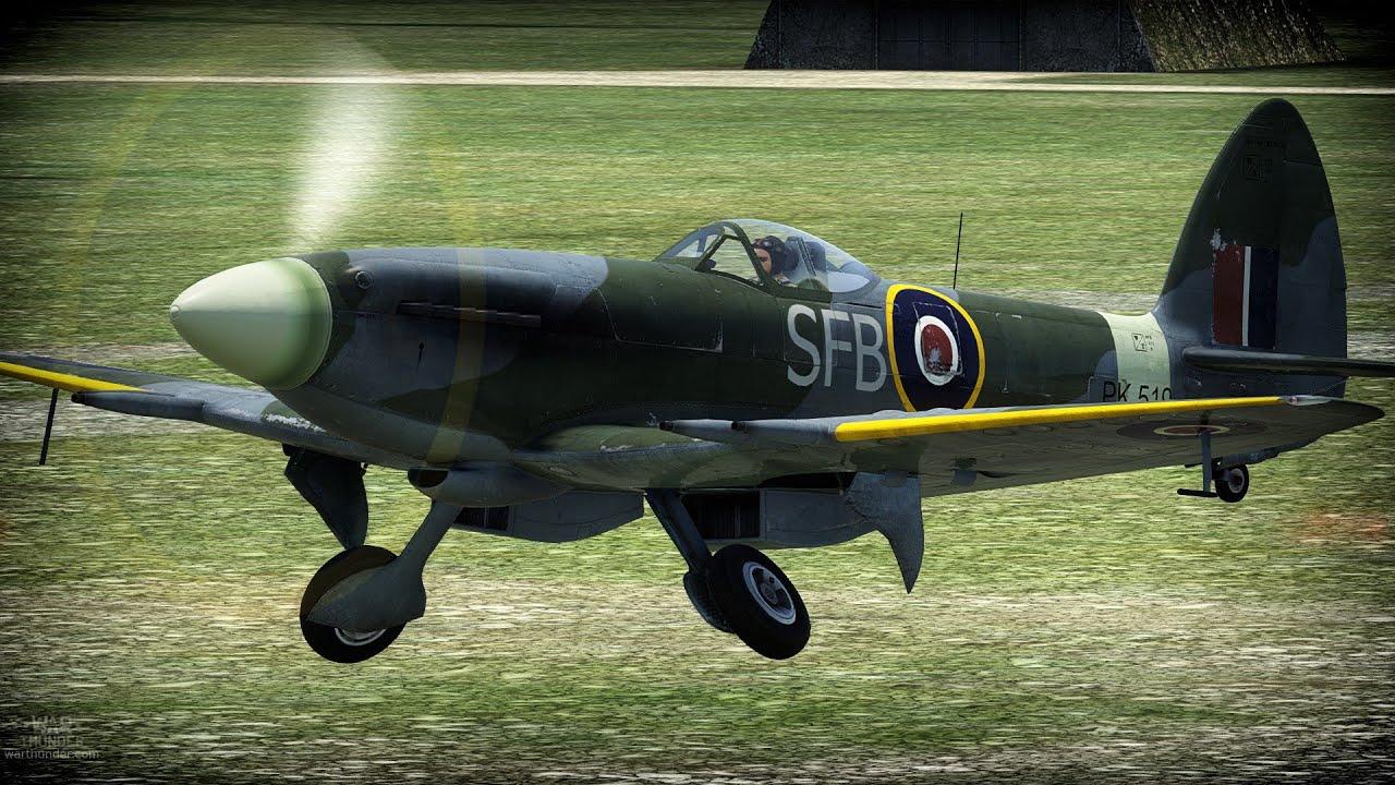 War Thunder - Spitfire F Mk 22 - Ace Game? - YouTube