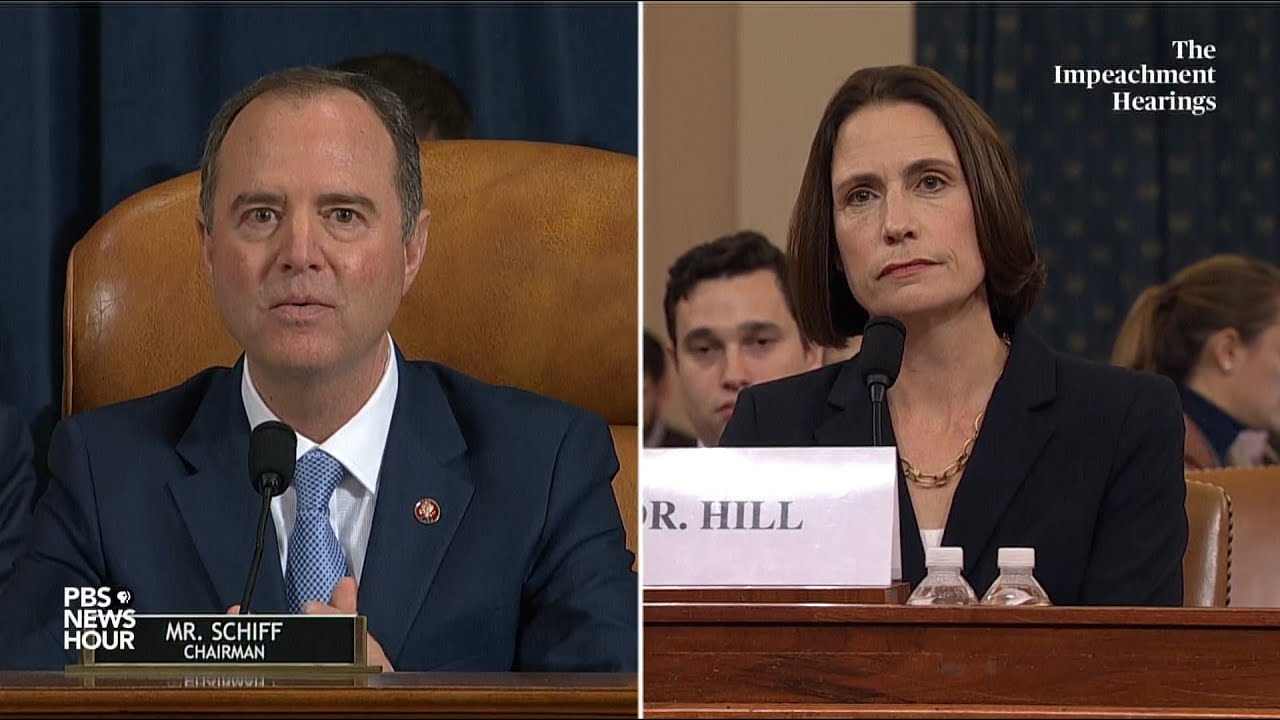 WATCH: All the key moments from Hill and Holmes' Trump impeachment hearing in 16 minutes