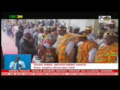VIDEO: President Akufo-Addo arrives in Togo on 3-day state visit