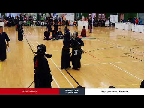 3member Ladies Team Eliminations - CKOU A vs Singapore Kendo Club - Chuken