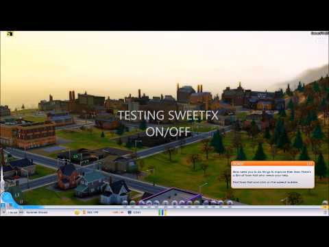 SWEETFX enabled in - SIMCITY - [running on Windows 8.1][ Improved graphics mod ]