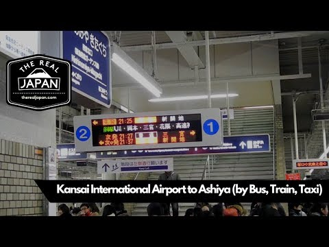 Kansai International Airport to Ashiya (by Limousine Bus, Train, Taxi) | The Real Japan | HD