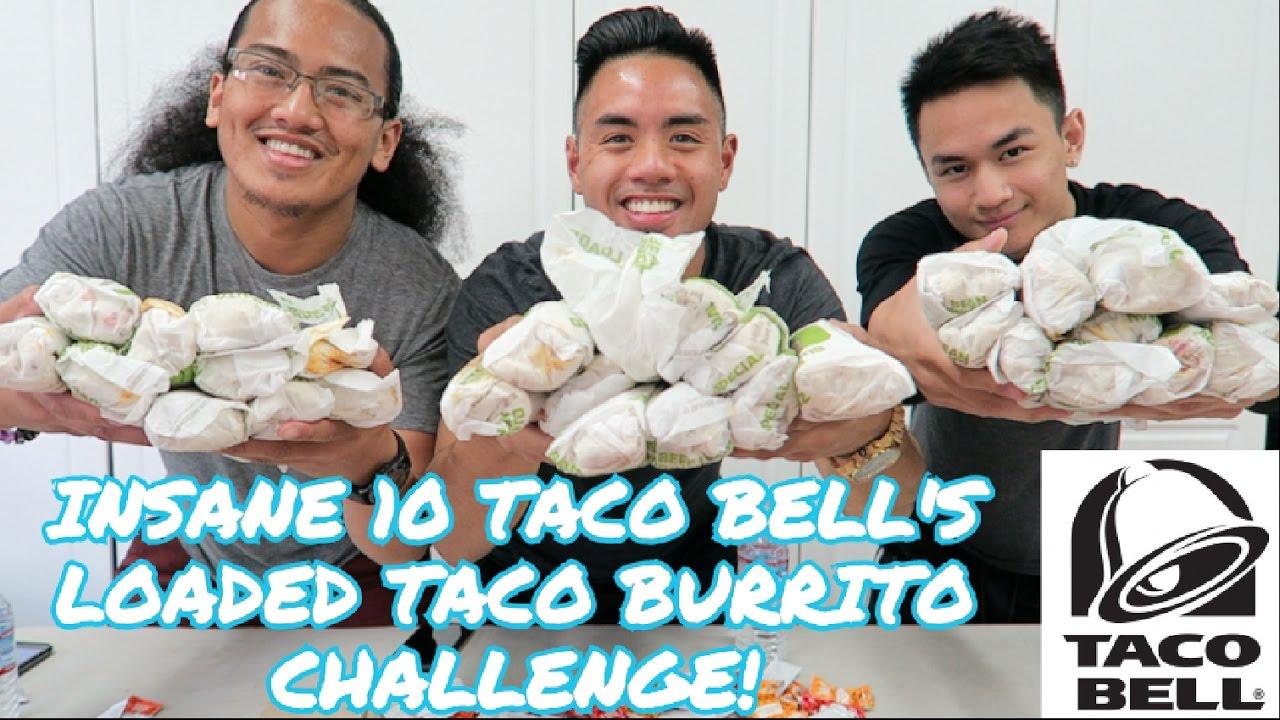 Insane 10 Taco Bells Taco Burrito Challenge 5K Calories