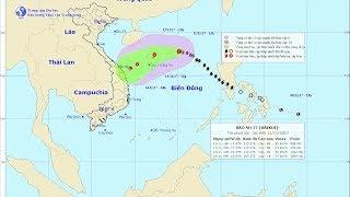 Tin Bão Mới Nhất 11/11/2017 : Tin bão Số 13 Giật Cấp 11 trên Biển Đông