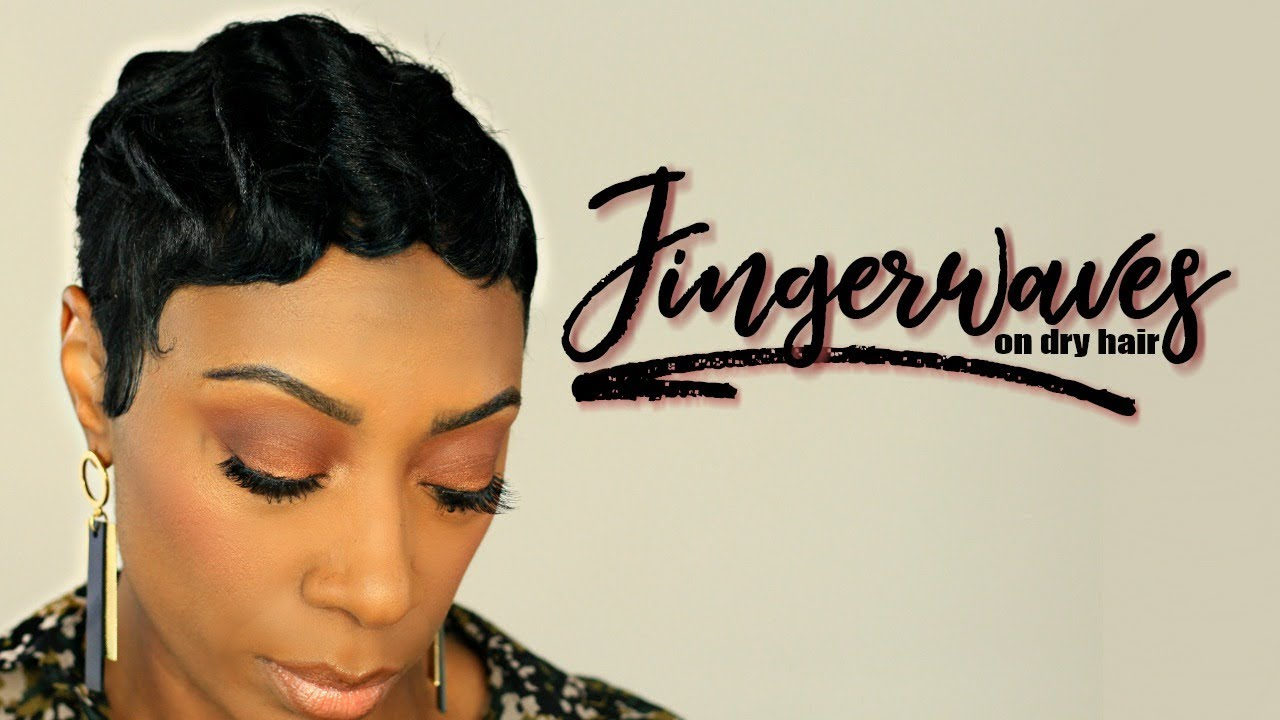 How To Create Finger Waves On Short Relaxed Hair Kaye Wright Youtube