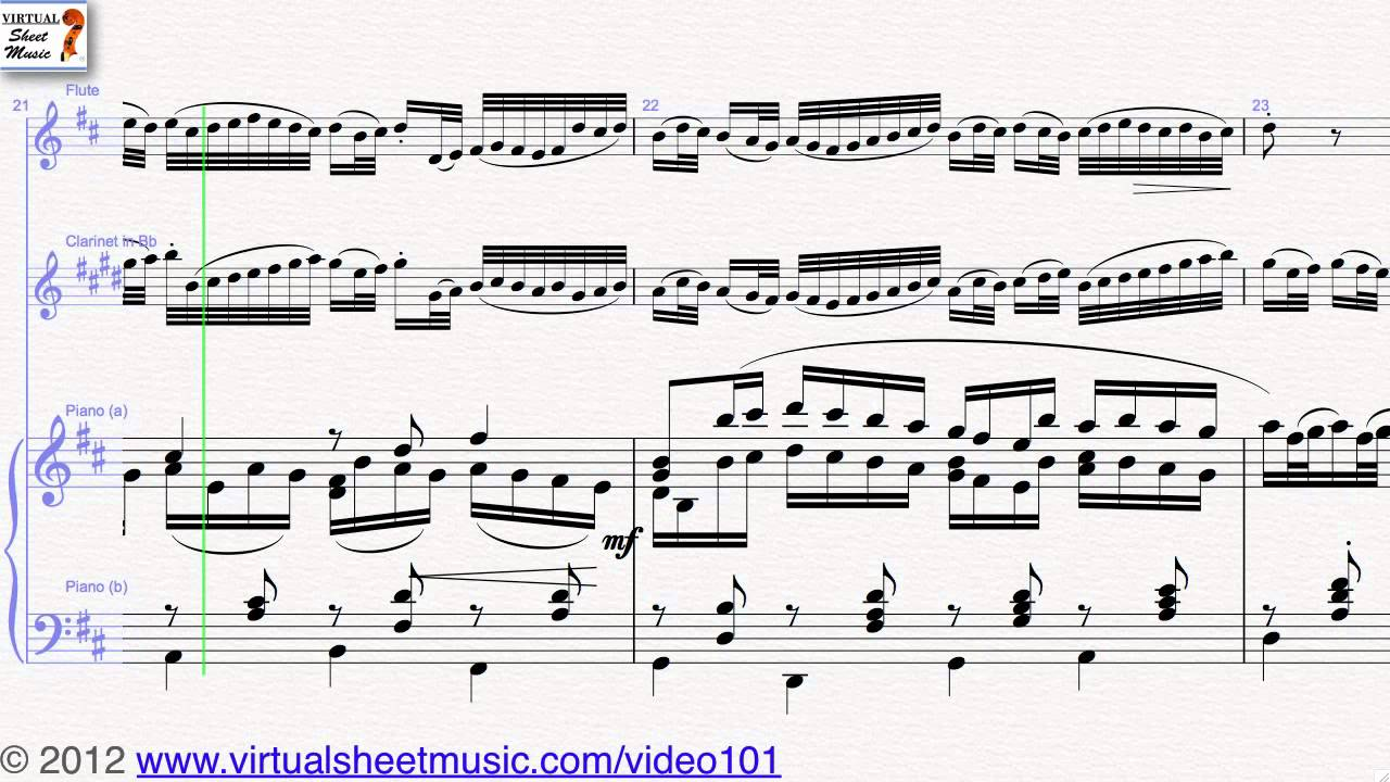 Johann Pachelbels Canon In D Flute Clarinet And Piano Sheet Music Video Score