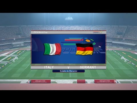 Pro Evolution Soccer 2016 - FIFA World Cup (Final) - Italy vs Germany (1080p 60fps)