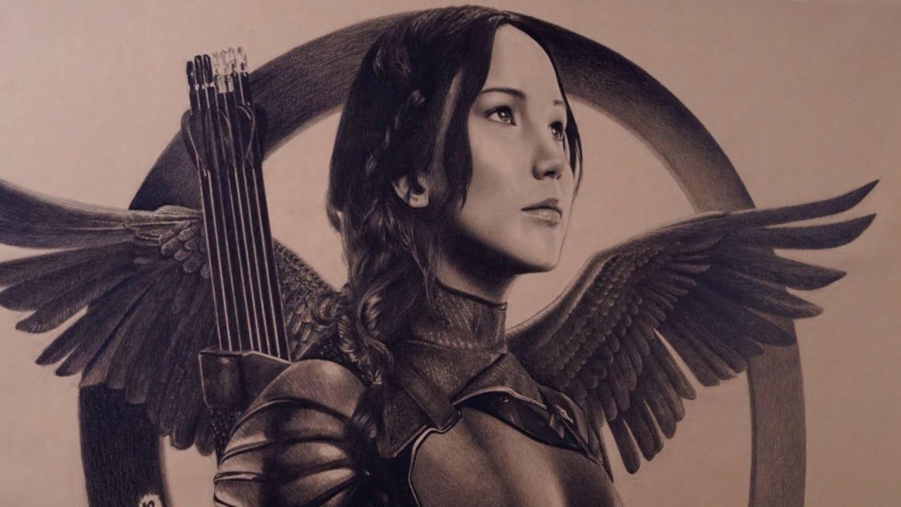 Katniss Everdeen Speed Drawing Youtube