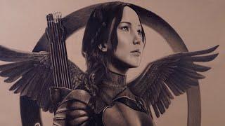 Drawing Katniss Everdeen - Hunger Games Mockingjay Pt 2