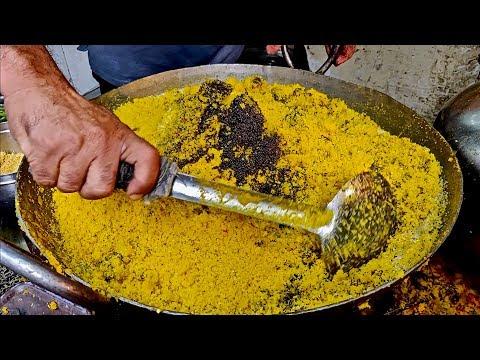 HUGE SEV KHAMANI Making | Popular Dish of Zaveri Bazaar | Indian Street Food
