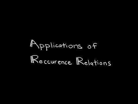 Discrete Math 8.1.1 Applications of Recurrence Relations